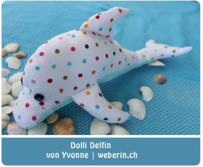 Delfin nähen: Nähbeispiel von Yvonne   Weberin. ch für binenstich.de