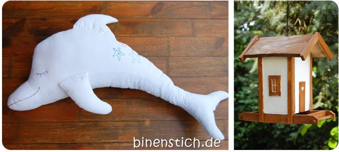 Schlaf gut: Dolli Delfin, vergrößert um 70 % | binenstich.de