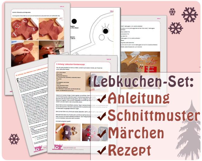 Lebkuchen-Set für Weihnachten: Nähen, backen, Märchen lesen - alles in einer Anleitung | binenstich.de