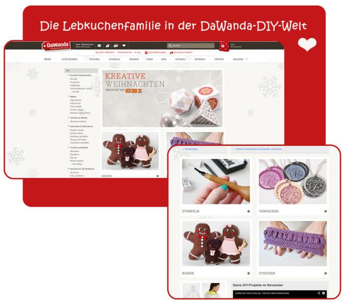 binenstich in den Medien: Lebkuchenfamilie auf DaWanda.de | binenstich.de