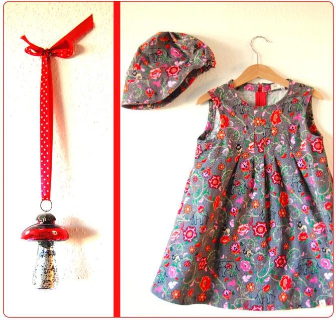 Herbstkleid: Schnittmuster Kleid nach Knip, Mütze Bengel | binenstich.de