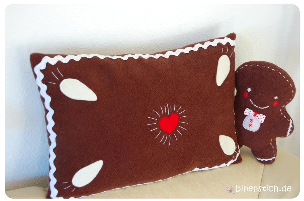 Lebkuchen Kissen Nähen Kostenlose Anleitung Binenstich