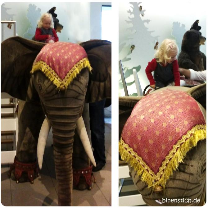Elefantenritt im Steiff-Museum in Giengen | binenstich.de