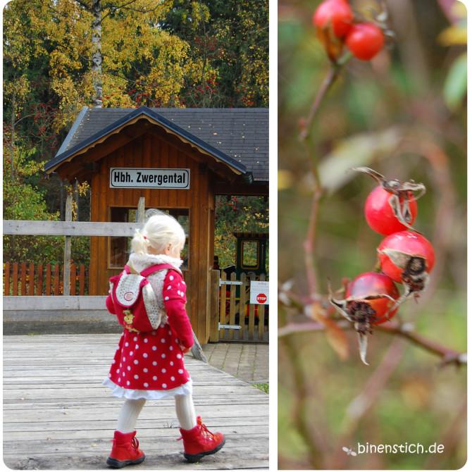 Herbst-Ausflug: Im Zwergental mit dem kleinen Fräulein