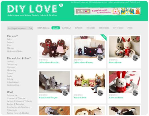 Binenstich-Schnittmuster auf DIY Love