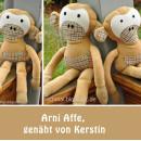 Arni Affe, genäht von Kerstin (versrapt-nochmal.blogspot.de), nach meinem E-Book | binenstich.de