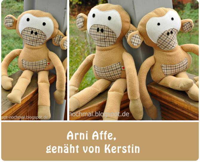 Kuscheltier Arni Affe nähen: Kundenfotos | Binenstich
