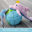 "Delfine mit Krone, genäht von luettejules.blogspot.com nach dem binenstich-E-Book ""Dolli Delfin"" | binenstich.de"