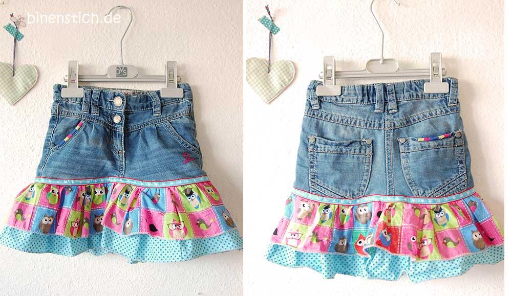 Jeans Recycling Lieblingsrockchen Binenstich
