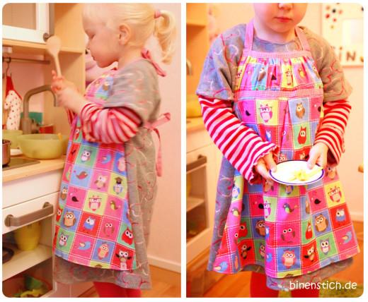 Kinderküchenschürze: Wie die Mama, so die Tochter | binenstich.de