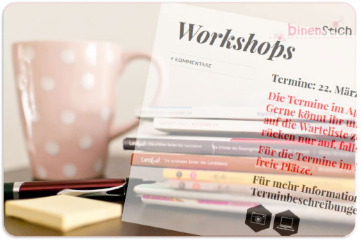 Input, Inspiration, Ideen: Ich gehe auf einen Workshop!