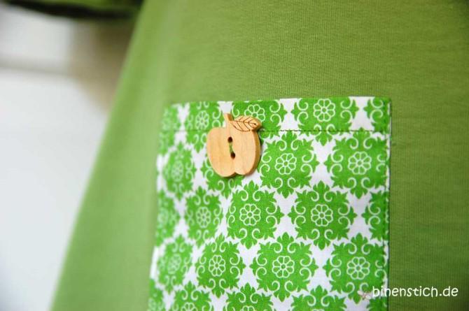 Coco Nr. 3  (Schnitt: Tilly and the Buttons), diesmal ein grünes Apfelkleid  | binenstich.de