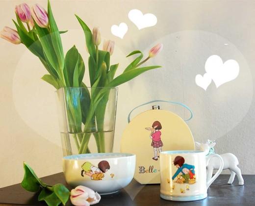Gewonnen: Ein Koffer Glück mit Belle& Boo-Geschirr :-)