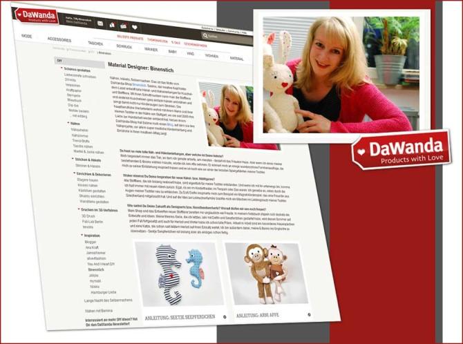 Binenstich-Shop und -Blog in der DaWanda DiY-Rubrik