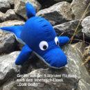 Genäht von Rosa (erst 9 Jahre alt!) - nach dem binenstich-Ebook Dolli Delfin