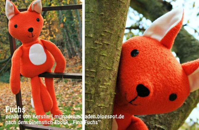 "Fina Fuchs, genäht von Kerstin |mitnadelundfaden.blogspot.de nach dem binenstich-Ebook ""Fina Fuchs""| binestich.de"
