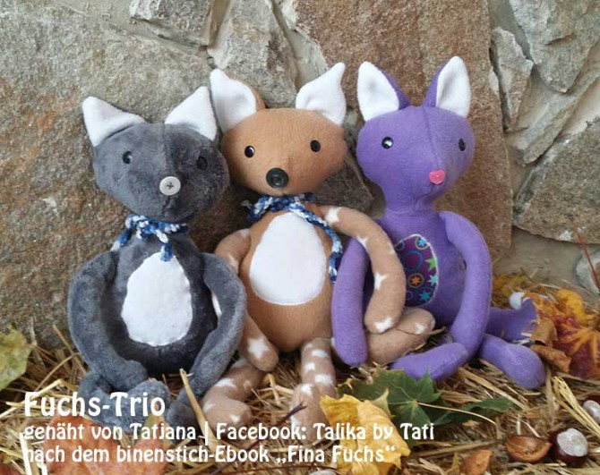"Fina Fuchs, genäht von Tatjana | Facebook: Talika made by Tati | nach dem binenstich-Ebook ""Fina Fuchs"" | binenstich.de"