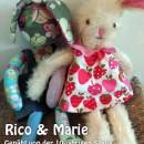"""Rico & Marie, genäht von der 10-jährigen Stella nach dem binenstich-E-Book """"Hanna & Henry Hase"""""""