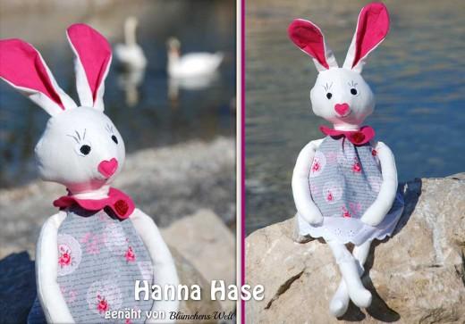 Hase nähen: Hanna Hase, genäht von Blümchens Welt nach einem binenstich-E-Book | binenstich.de