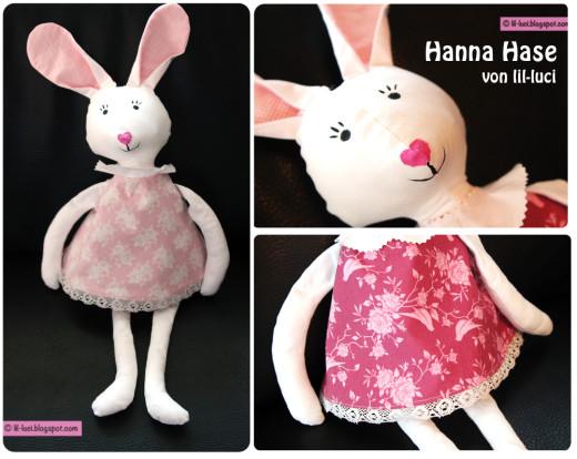 Hase nähen: Hanna Hase, genäht von lil-luci nach einem binenstich-E-Book | binenstich.de