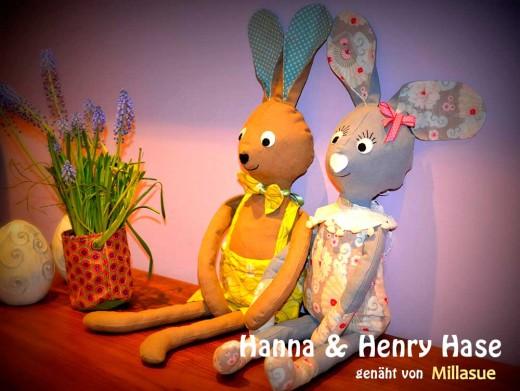 Hase nähen: Hanna & Henry Hase, genäht von Millasue nach einem binenstich-E-Book | binenstich.de