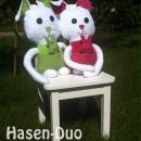 """Hasen-Duo, genäht von Peter nach dem binenstich-Ebook """"Henni Hase"""""""