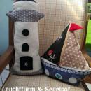 Leuchtturm & Segelbot, genäht von Barbara nach den gleichnamigen binenstich-Ebooks