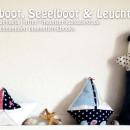 Papierboot-Kissen, Segelboot und Leuchtturm, genäht von Raphaela | http://maunzerle.blogspot.de, nach den gleichnamigen binenstich-Ebooks.