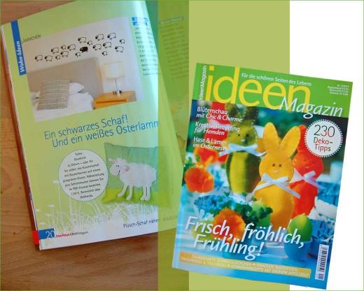 Das Schafkuschelkissen im Ideen-Magazin 1/2014