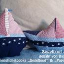 """Segelboot & Papierboot, genäht von Barbara, nach den binenstich-Ebooks """"Segelboot"""" & """"Papierboot-Kissen"""""""