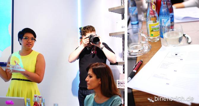 Bloggerworkshop in Stuttgart: Anna und Herr M (mit Kamera im Gesicht) | binenstich.de