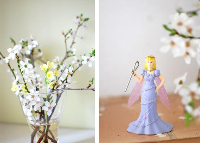 Frühlingsfund: Blüten und Elfenprinzessin | binenstich.de