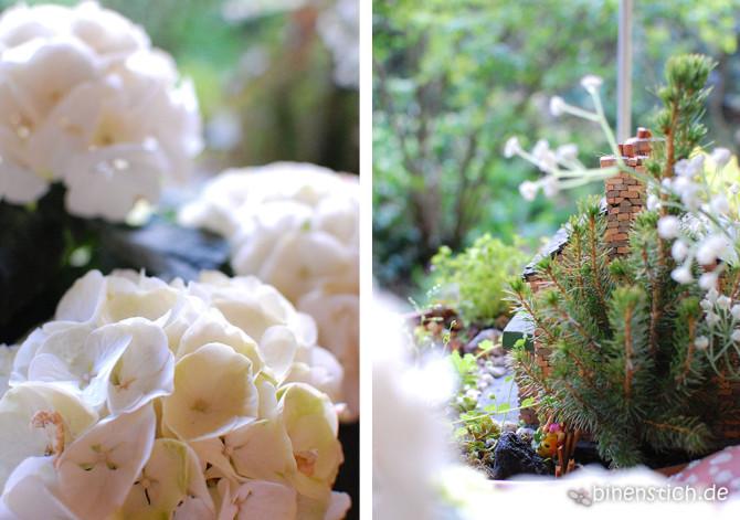 Elfengarten: Versteckt hinter Hortensien und kleinen Tannen, unser Miniaturgarten für unsere zarten Mitbewohner | binenstich.de