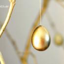 Goldene Ostern, Teil 2: Mit ausgeblasenen und teilweise vergoldeten Wachteleiern | binenstich.de