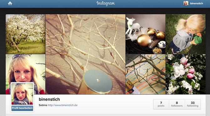 binenstich jetzt auch auf Instagram!