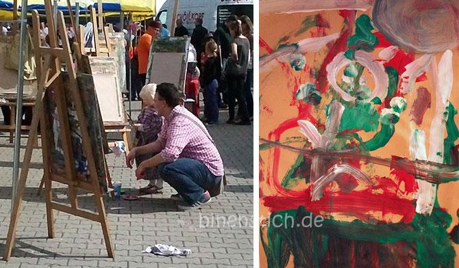 Gute Zeiten 14: Künstler-Glück: Vater und Tochter pinseln ein Kunstwerk | binenstich.de