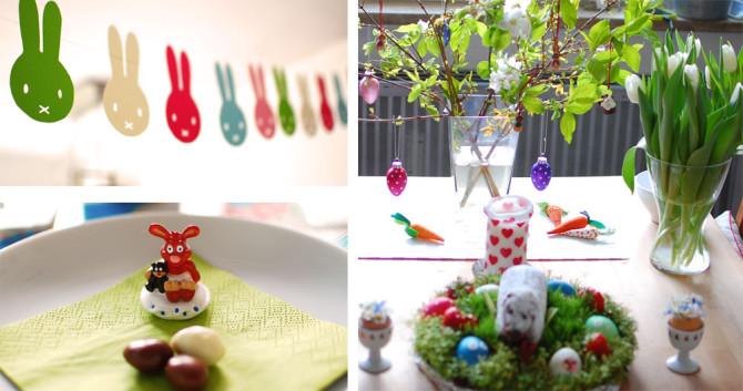 Gute Zeiten 16: Ostern mit Miffy-Girlande, Osterfrühstückstisch und Osterlamm | binenstich.de