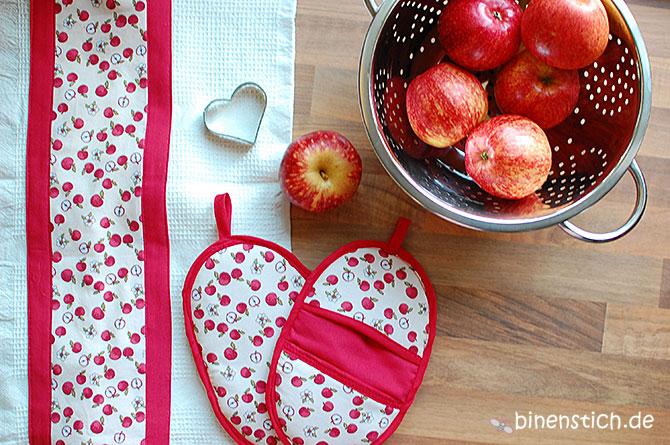 Apfe-Liebe: Neue Küchenhandtücher & Topflappen für die binenstich-Küche | binenstich.de
