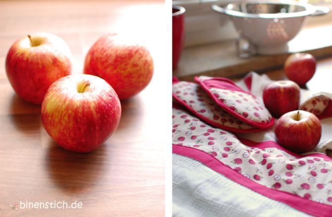 Apfel-Küchen-Liebe mit neuen Küchenhandtüchern und Ofenhandschuhen | binenstich.de