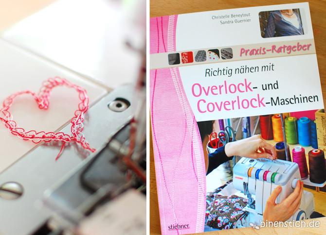 Nähen lernen mit der Overlock-Maschine: Buchtipp | binenstich.de