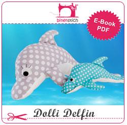 Delfin nähen: Anleitung und Schnittmuster
