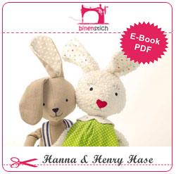 Kuscheltier nähen: Anleitung Hanna & Henry Hase