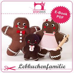 Nähen für Weihnachten: Lebkuchenmann + Familie