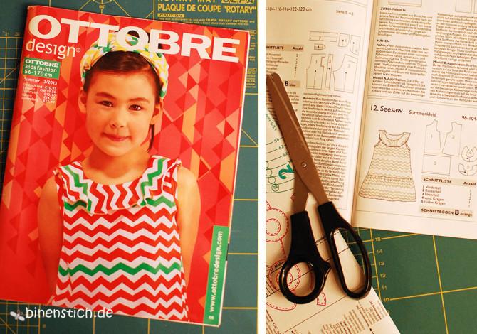 Schnitt: Seesaw Sommerkleid Nr. 12 aus Ottobre 3/2013