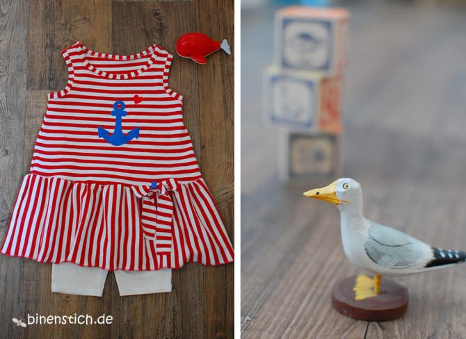 Ahoi, Sommer - wir kommen! Maritimes Kleidchen nach Ottobre-Schnitt | binenstich.de