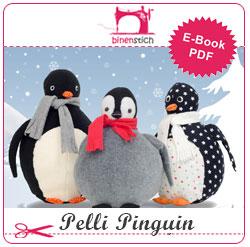Kuscheltier nähen: Anleitung Pelli Pinguin