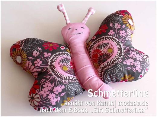 """Schmetterling, genäht von Katrin   modage.de   nach dem binenstich-Ebook """"Siri Schmetterling""""   binenstich.de"""