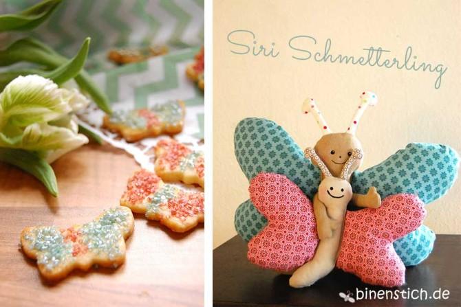 Schmetterling nähen: Anleitung im Shop| binenstich.de