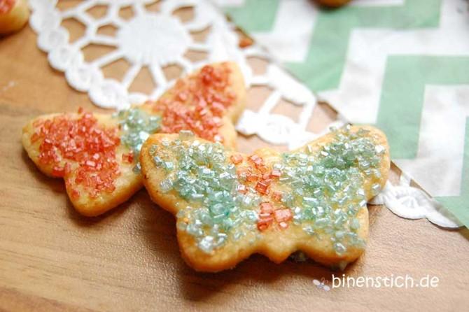 Schmetterlinge überall: Wir haben sogar welche gebacken, nicht nur genäht! | binenstich.de