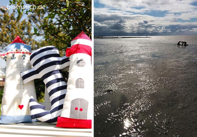 Leuchtturm nähen für die maritime Deko in Haus und Garten